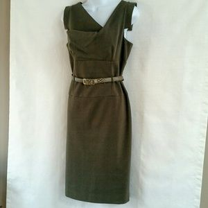 Adrianna papell olive green dress 12